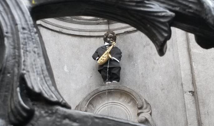 Manneken Pis saxofón impresión 3D